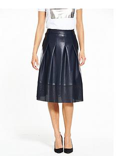 boss-orange-beswedy-pu-skirt-dark-blue