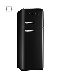 Smeg FAB30RFN 60cm 1950s Style Fridge Freezer - Black
