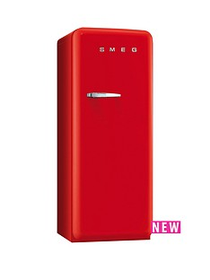 smeg-fab28qr1-60cm-1950s-style-red-right-hand-hinged-fridge-with-icebox-red