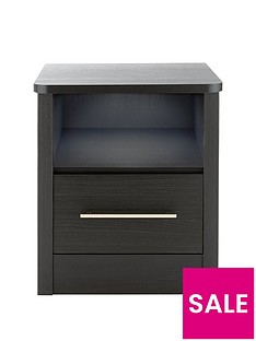 Consort Liberty Ready Assembled 1 Drawer Bedside Chest with Light