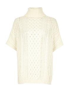 river-island-cable-knit-poncho