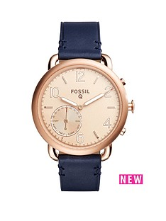 fossil-fossil-q-tailor-rose-tone-dial-leather-strap-ladies-hybrid-smart-watch