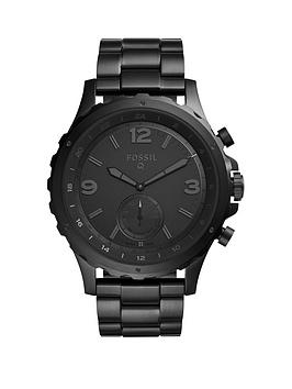fossil-fossil-q-nate-black-dial-black-strap-mens-hybrid-smart-watch