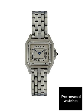 cartier-cartier-preowned-panthere-off-white-dial-black-roman-numerals-reference-132-000-ladies-watch