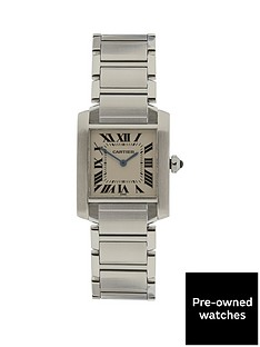 cartier-cartier-preownedtank-francaise-off-white-dial-black-roman-numerals-reference-w51008q4-midsize-watch