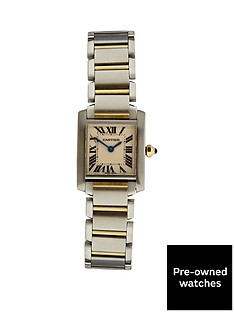 cartier-cartier-preowned-tank-francaise-off-white-dial-black-roman-numerals-reference-2384-ladies-watch