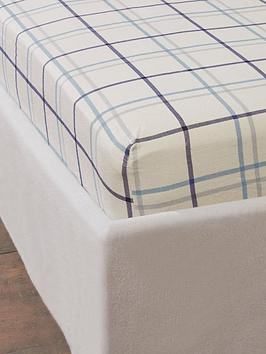 cascade-home-brushed-cotton-check-fitted-sheet