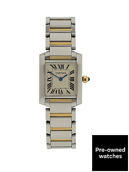 cartier-cartier-preowned-bimetal-tank-francaise-off-white-dial-black-roman-numerals-reference-2384-ladies-wa