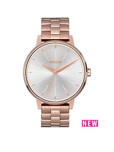 nixon-kensington-white-dial-rose-tone-stainless-steel-bracelet-ladies-watch
