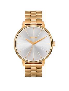 nixon-kensington-white-dial-gold-tone-stainless-steel-bracelet-ladies-watch