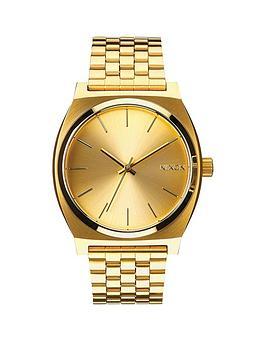 nixon-time-teller-gold-tone-dial-gold-tone-bracelet-watch
