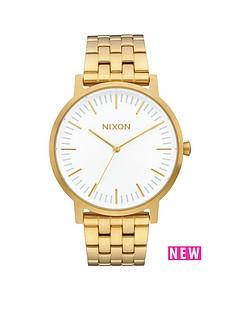 nixon-porter-white-dial-gold-tone-bracelet-mens-watch