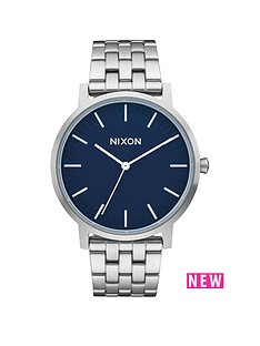 nixon-porter-blue-dial-stainless-steel-bracelet-mens-watch