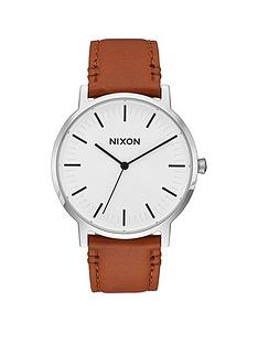 nixon-porter-white-dial-light-tan-leather-strap-mens-watch