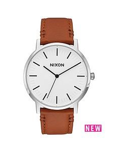 nixon-porter-white-dial-light-tan-leather-strap-mens-watch