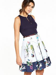 ted-baker-petali-dress-navy