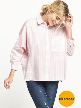 warehouse-candy-stripe-boxy-shirt-pink