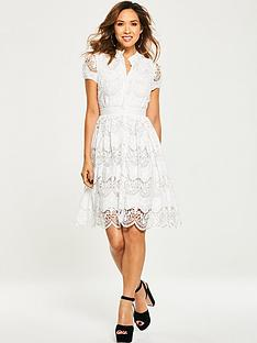 myleene-klass-tiered-lace-skater-dress
