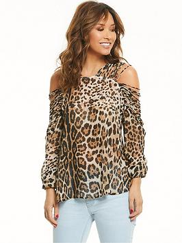 myleene-klass-printed-rouladenbspsleeve-blouse