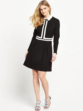 ted-baker-collar-detail-long-sleeve-dress