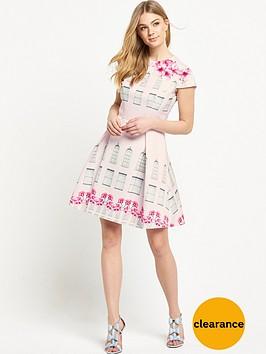 ted-baker-window-box-skater-dress-baby-pink