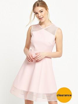 ted-baker-mesh-detail-skater-dress-baby-pink