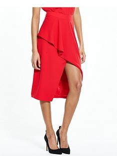 ted-baker-frill-front-asymetric-skirt