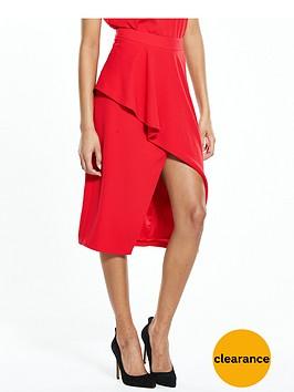 ted-baker-frill-front-asymmetric-skirt