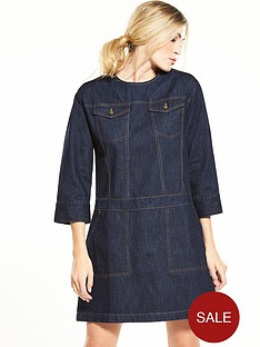 warehouse-pocket-denim-shift-dress-mid-wash