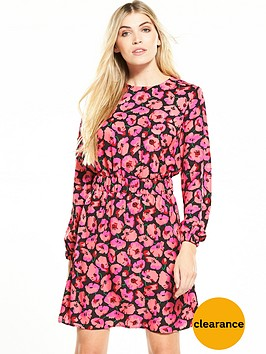 warehouse-poppy-print-dress