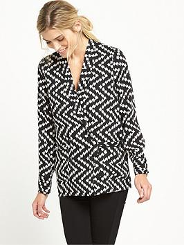 warehouse-zig-zag-jacket-monochrome