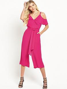 warehouse-crepe-cold-shoulder-jumpsuit-bright-pink