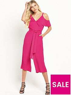 warehouse-crepe-cold-shoulder-jumpsuit-bright-pink