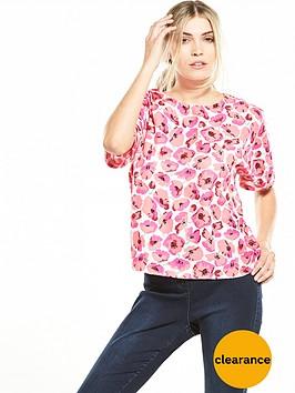 warehouse-poppy-print-t-shirt