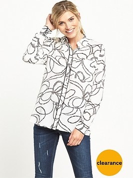 warehouse-rope-print-shirt-creamblack