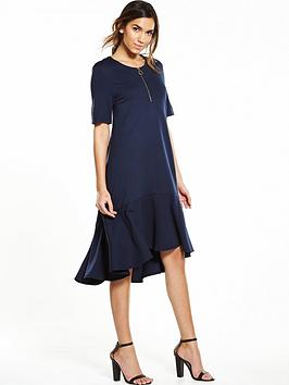 warehouse-zip-pull-dress-navy
