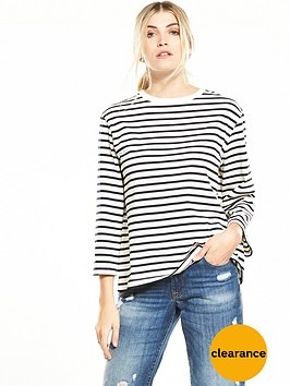 warehouse-stripe-split-back-top