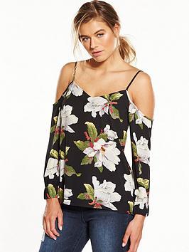 warehouse-magnolia-split-sleeve-top