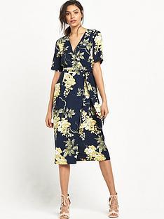 warehouse-wisteria-dress-navy