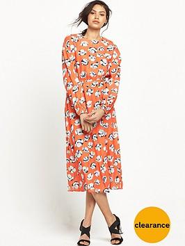 warehouse-floating-floral-midi-dress-orange