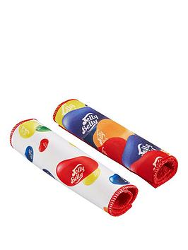 qdos-jelly-belly-2x-multi-coloured-print-cleaning-cloths