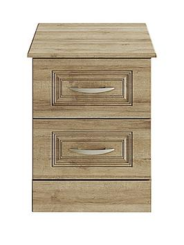 Consort Dorchester Ready Assembled 2 Drawer Bedside Chest