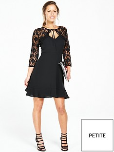 v-by-very-petite-petite-lace-frill-yoke-tea-dress-black