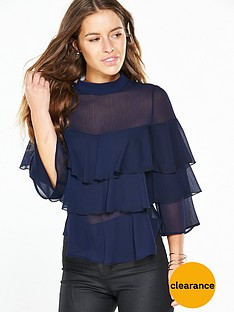 v-by-very-petite-petite-ruffle-layered-top-navynbsp