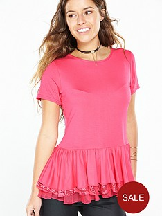 v-by-very-petite-petite-lace-amp-tulle-peplum-top-pinknbsp