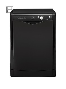 Indesit Ecotime DFG15B1K 12-Place Full Size Dishwasher - Black Best Price, Cheapest Prices