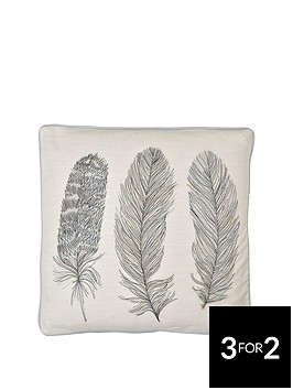arthouse-blue-feather-cushion