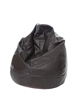 kaikoo-faux-leather-teardrop-bean-bag-6-cubic-feet