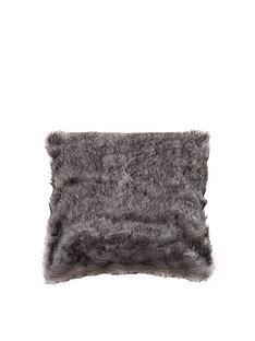 kaikoo-plain-faux-fur-cushion