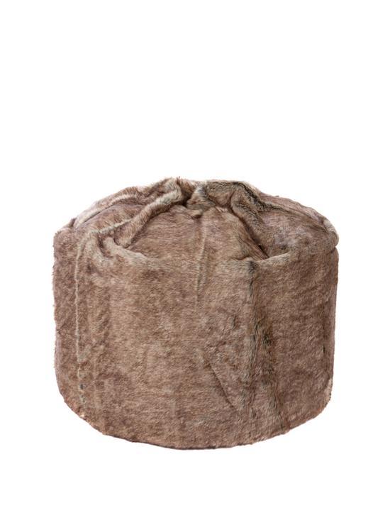 Kaikoo Plain Faux Fur Beanbag Verycouk